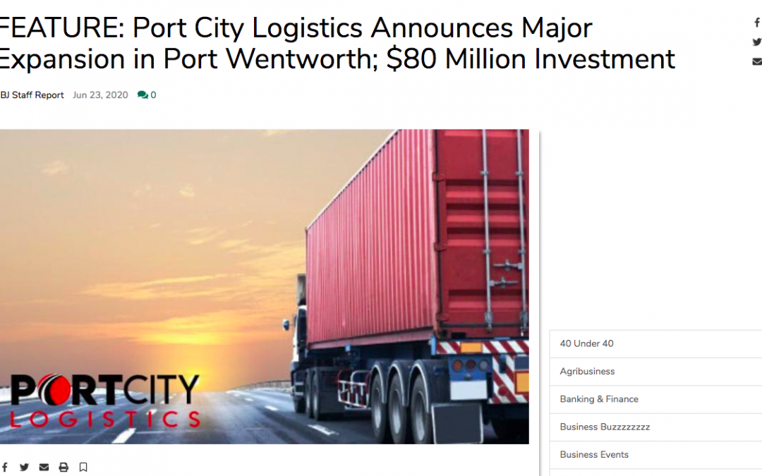 Port City Logistics Announces Major Expansion in Port Wentworth; $80 Million Investment